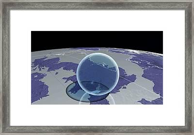 Global Fresh Water Volume Framed Print by Adam Nieman