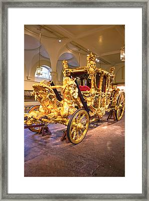 Gold State Coach Queen Elizabeth II Framed Print by David French