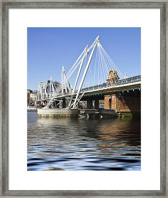 Golden Jubilee Bridges London Framed Print by David French
