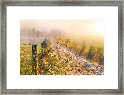 Good Morning Farm Framed Print by Debra and Dave Vanderlaan