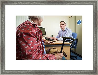 Gp With Patient Framed Print by Jim Varney