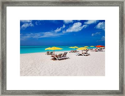 Grace Bay Beach Framed Print by Jo Ann Snover