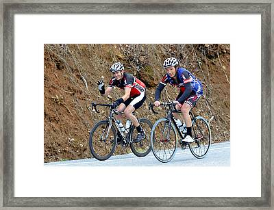 Gran Fondo Bike Ride Framed Print by Susan Leggett
