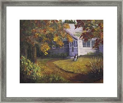 Grandma's House Framed Print by Bev Finger