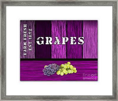 Grape Farm Framed Print by Marvin Blaine