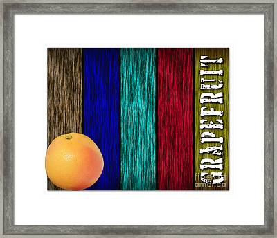Grapefruit Framed Print by Marvin Blaine