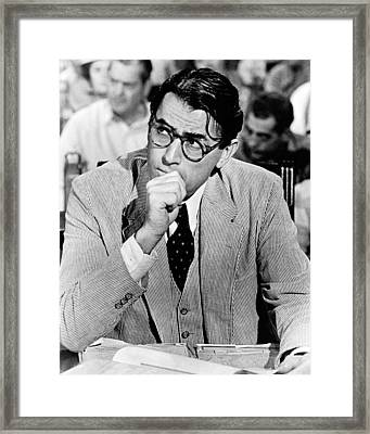 Gregory Peck In To Kill A Mockingbird  Framed Print by Silver Screen