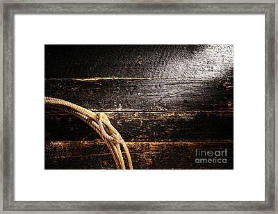 Grunge Lasso Framed Print by Olivier Le Queinec