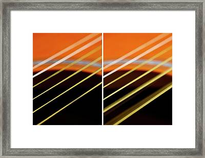 Guitar Strings At Rest And Vibrating Framed Print by Science Photo Library