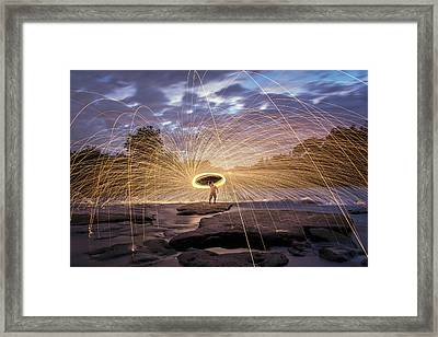 Halo On The American River Framed Print by Lee Harland