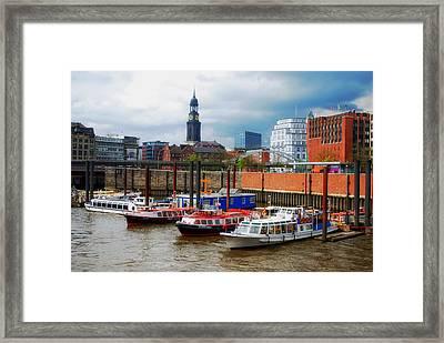 Hamburg Harbor Framed Print by Mountain Dreams