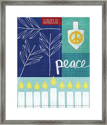 Hanukkah Peace Framed Print by Linda Woods