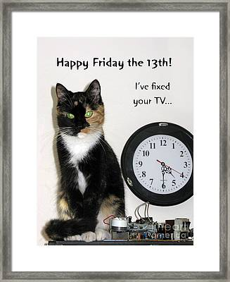 Happy Friday The 13th. Framed Print by Ausra Paulauskaite