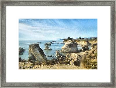 Hazy Lazy Day Pismo Beach California Framed Print by Barbara Snyder