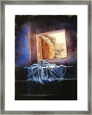 He Is Risen Framed Print by Susan Jenkins