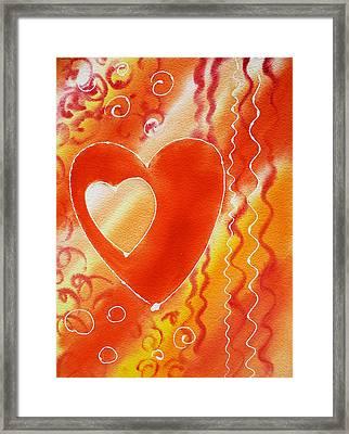 Hearts For Valentine Framed Print by Irina Sztukowski
