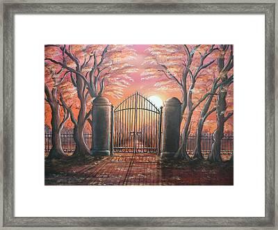 Heavens Gates Framed Print by Krystyna Spink