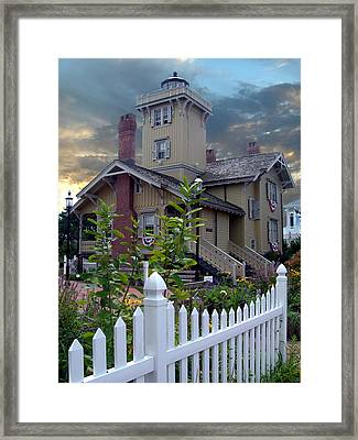 Hereford Inlet Lighthouse Framed Print by Skip Willits