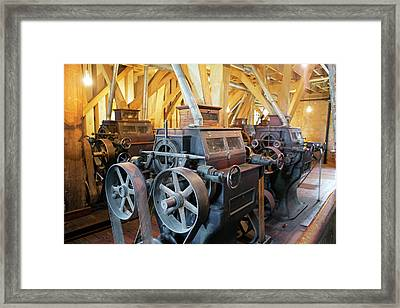 Historic Flour Mill Machinery Framed Print by Jim West