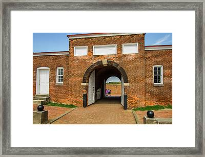 Historic Fort Mchenry, Birthplace Framed Print by Jerry Ginsberg