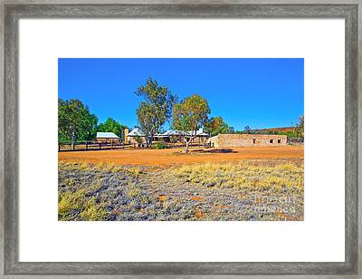 Historical Telegraph Station Alice Springs  Framed Print by Bill  Robinson