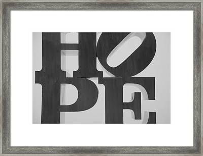 Hope In Black And White Framed Print by Rob Hans