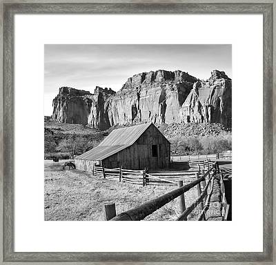 Horse Barn In Fruita Utah Framed Print by Jack Schultz