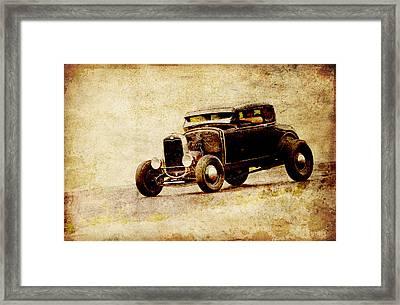 Hot Rod Ford Framed Print by Steve McKinzie