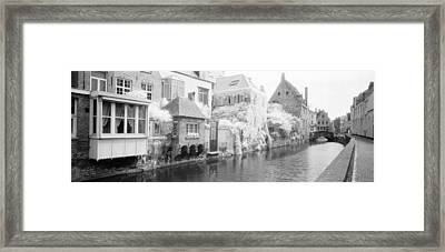 Houses Along A Channel, Bruges, West Framed Print by Panoramic Images