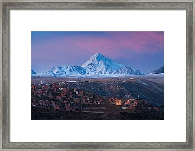 Huayna Potosi Mountain Framed Print by Eric Bauer