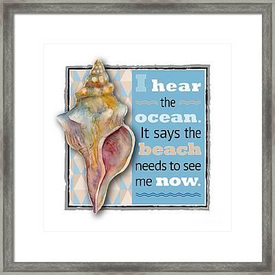I Hear The Ocean. Framed Print by Amy Kirkpatrick