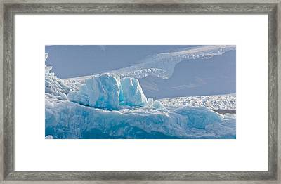 Icebergs At The Jokulsarlon Glacial Framed Print by Panoramic Images