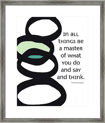 In All Things Framed Print by Linda Woods
