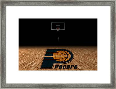 Indiana Pacers Framed Print by Joe Hamilton