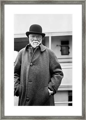 Industrialist Andrew Carnegie Framed Print by Underwood Archives
