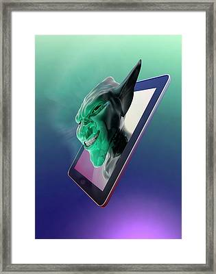 Internet Troll Framed Print by Victor Habbick Visions