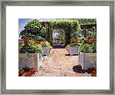 Italian Elegance Framed Print by David Lloyd Glover