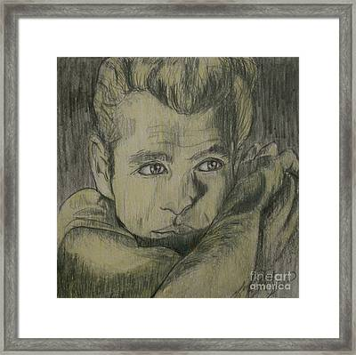 James Dew Dean Framed Print by Linda Simon