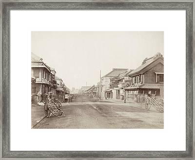 Japan Yokohama, 1880s Framed Print by Granger