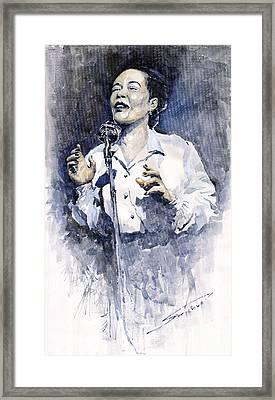 Jazz Billie Holiday Lady Sings The Blues  Framed Print by Yuriy  Shevchuk
