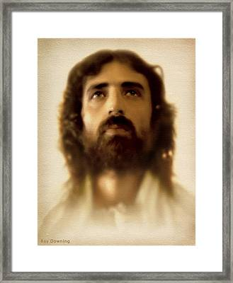 Jesus In Glory Framed Print by Ray Downing