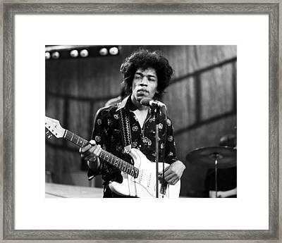 Jimi Hendrix 1966 Framed Print by Chris Walter