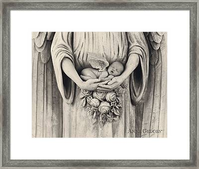 Jonti As An Angel Framed Print by Anne Geddes