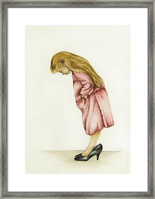 Just My Size Framed Print by Nan Wright