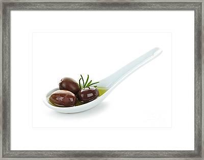 Kalamata Olives Framed Print by Elena Elisseeva