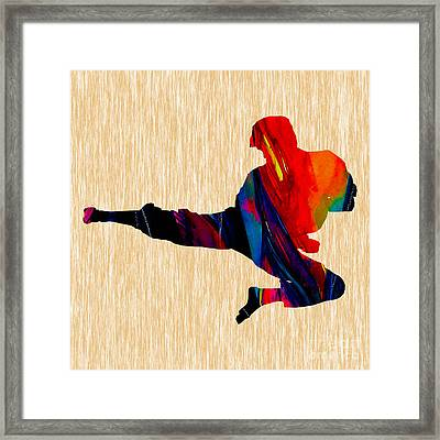 Karate Painting Framed Print by Marvin Blaine