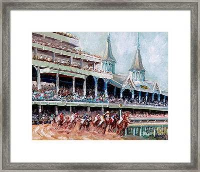 Kentucky Derby Framed Print by Todd Bandy
