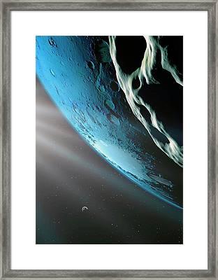 Kepler-62f Framed Print by Detlev Van Ravenswaay