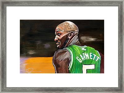 Kevin Garnett Framed Print by Dave Olsen