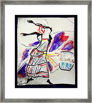 Kiganda Dance - Uganda Framed Print by Gloria Ssali